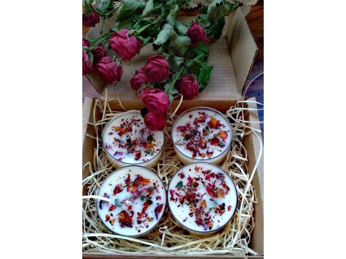 Čajové bylinkové sviečky - Ruža