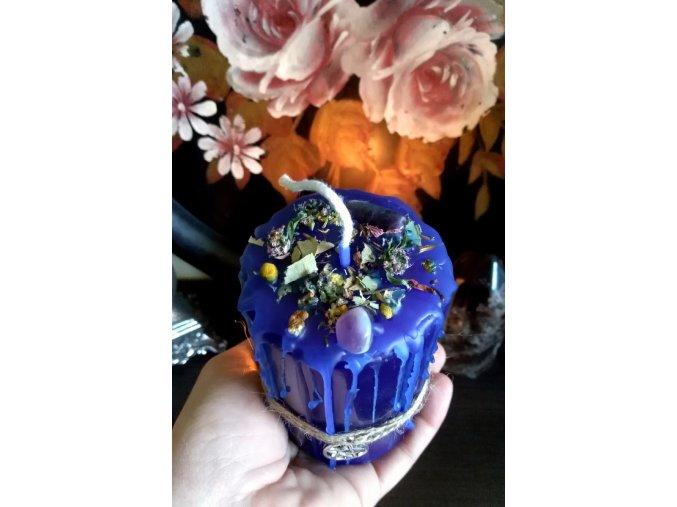 Rituálna bylinková sviečka (velká) - Zdravie