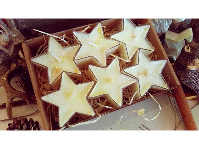 Čajové sviečky - Vianočná hviezda