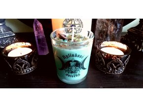 Rituálna bylinková sviečka - hojnosť, peniaze