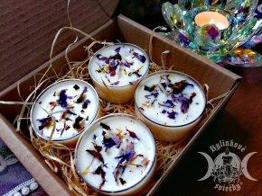 Čajová bylinková sviečka - Modré lekno