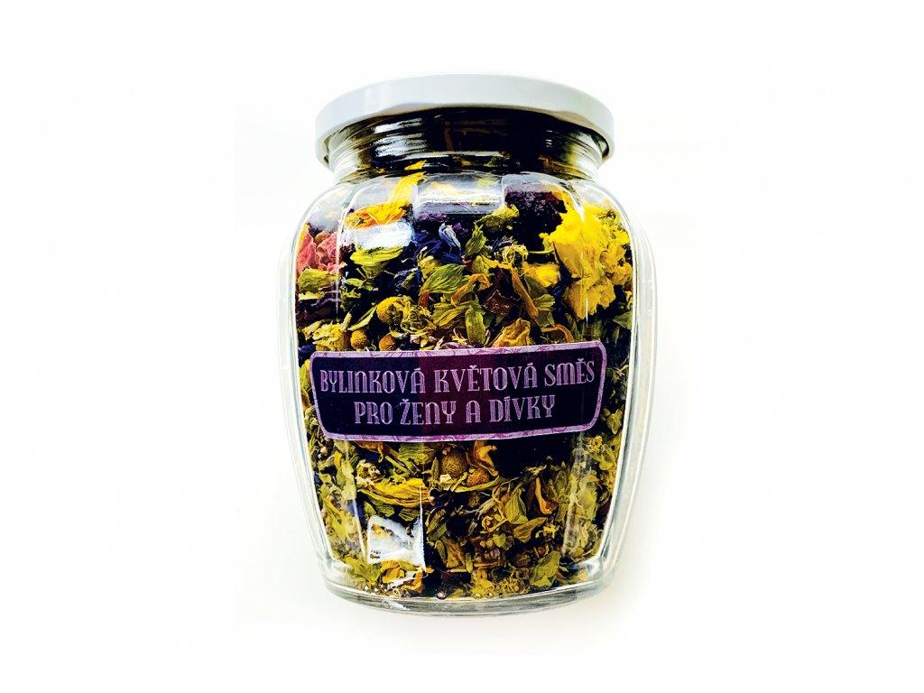 Květový čaj pro ženy a dívky dóza AMFÓRA velká čelní pohled