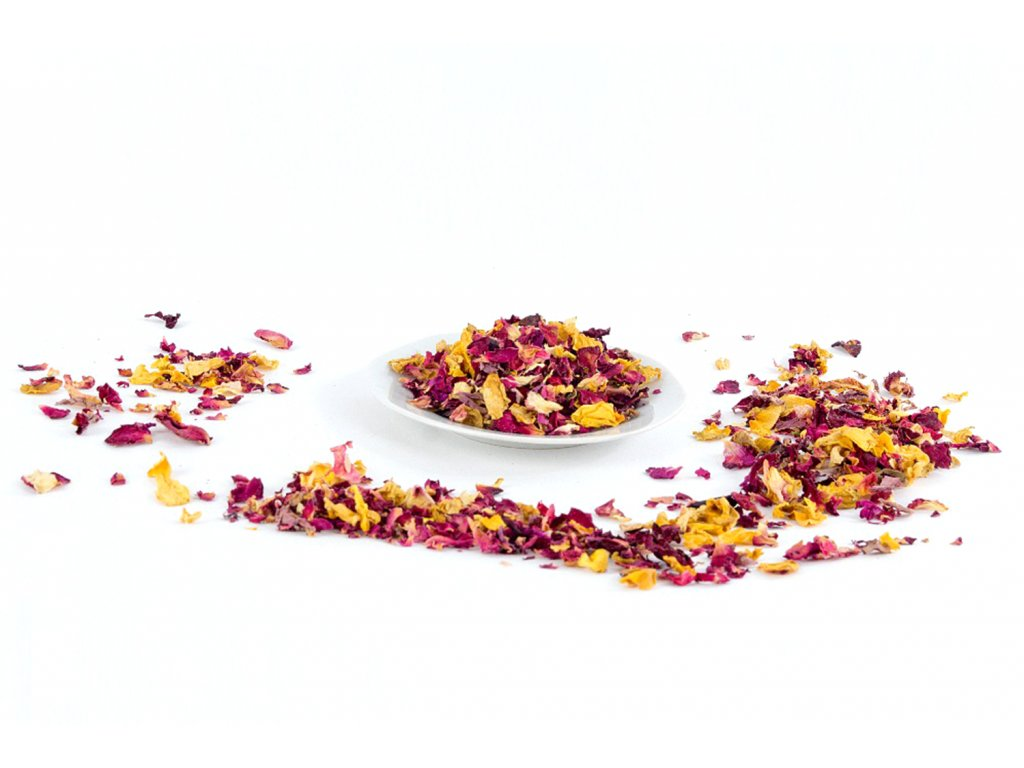 eupatoria plátky růží různé barvy1