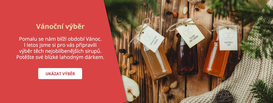 Vánoční výběr oblíbených sirupů