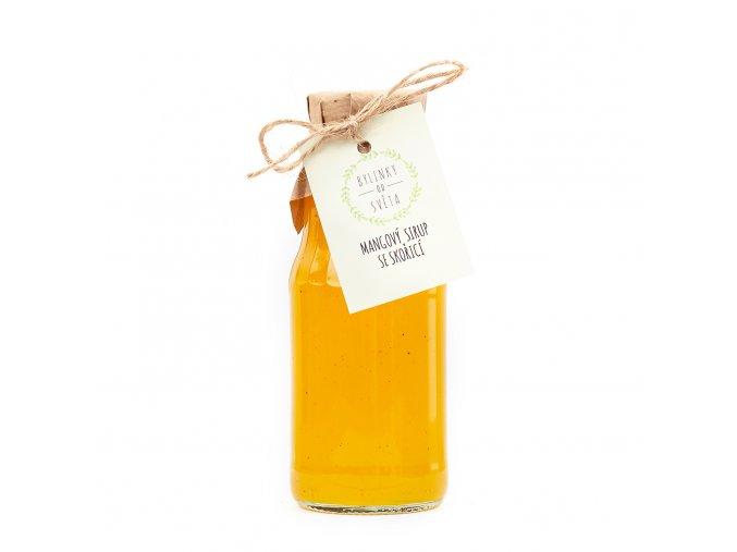 Mangový sirup se skořicí - 300ml