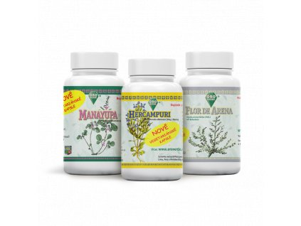 Očistná kúra Manayupa & Flor de Arena & Hercampuri 3x100x350 mg kapsle
