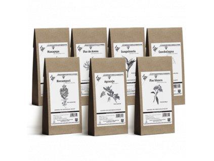 Bylinná očistná kúra - kombinace 7 jihoamerických bylin - 7 x 50 g