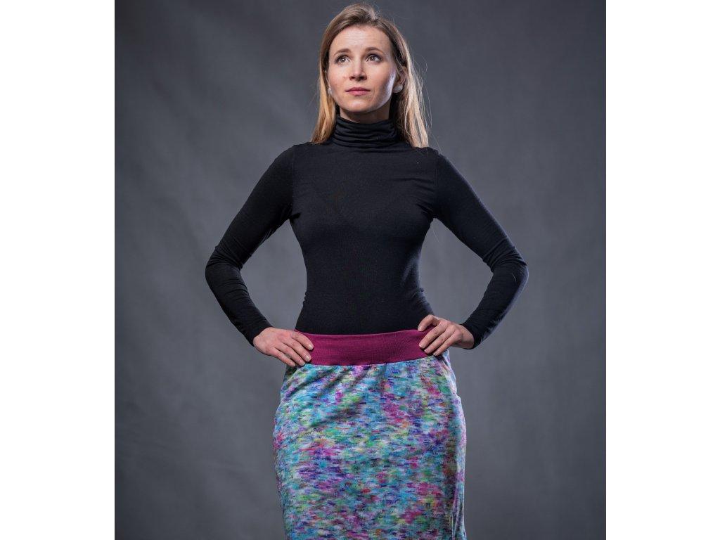 Úpletová sukně - PASTELOVÉ ČMÁRANCE vel.M/L