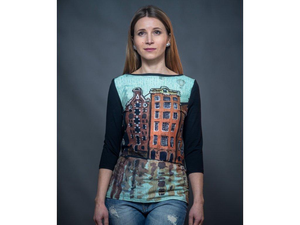 Tričko s domy