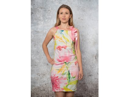 Variabilní šaty - AKVARELOVÉ KVĚTY