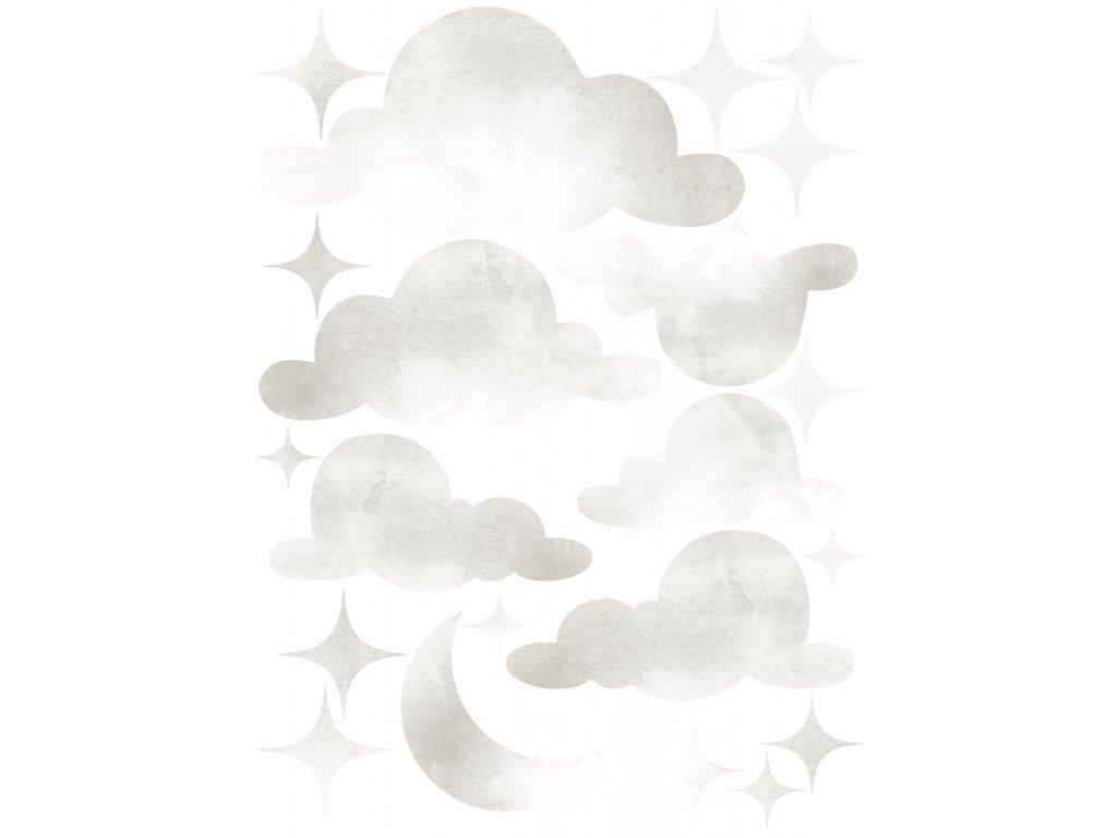 Cloud stars light grey