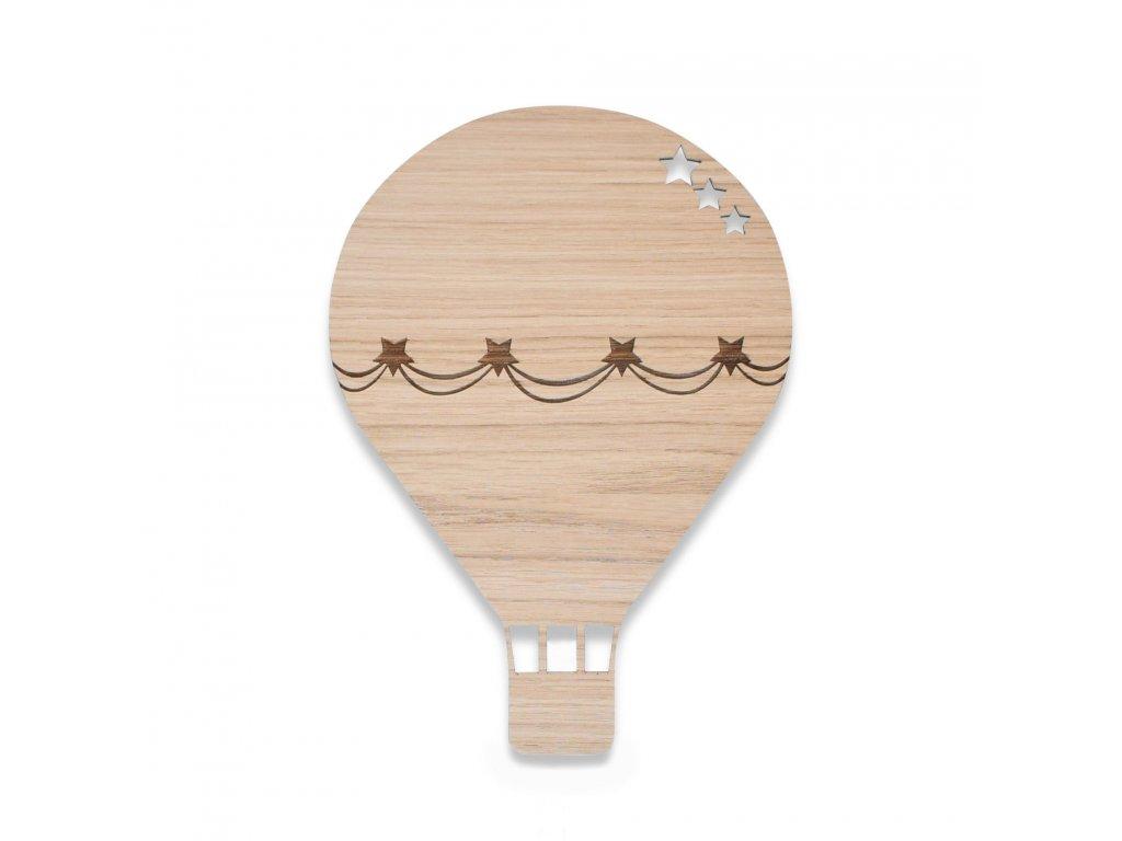 Air balloon lamp oak 01
