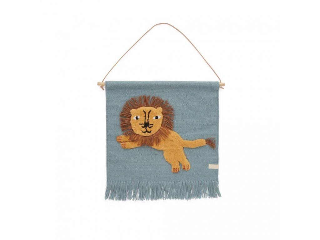 Jumping Lion Wallhanger Wallhanger 1100518 605 Tourmaline 1000x1000