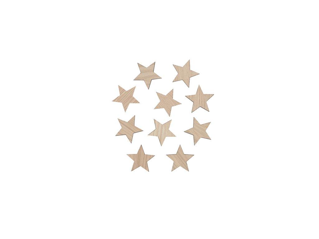Star decoration 6x6 oak WEB