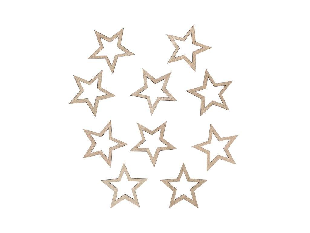 Star decoration 9x9 oak WEB