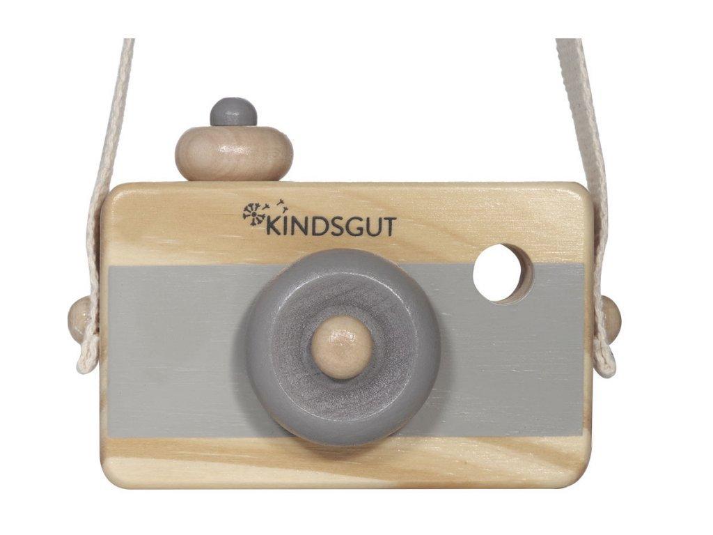 KINDSGUT dřevěný fotoaparát šedý