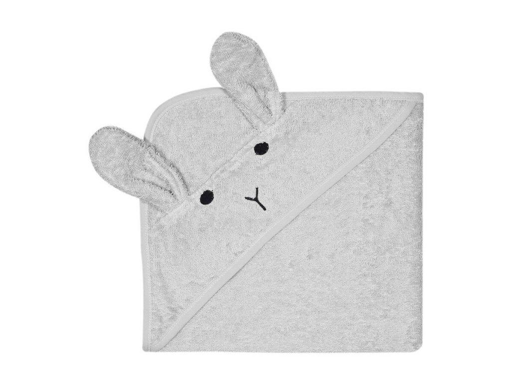 KINDSGUT dětská osuška šedý zajíček