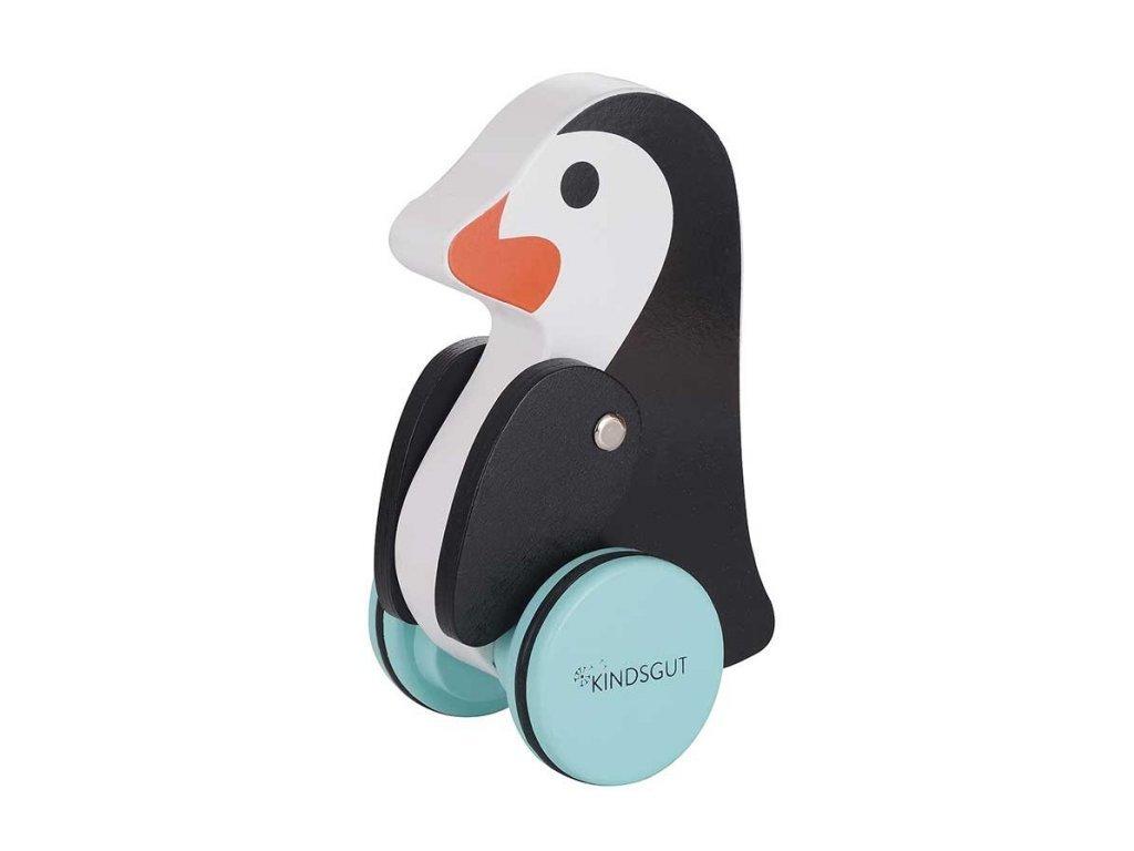 KINDSGUT Dřevěná tahací hračka tučňák