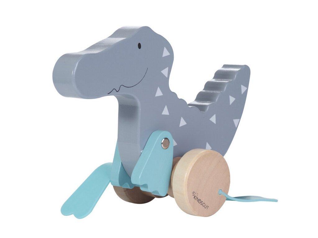 KINDSGUT Dřevěná tahací hračka krokodýl
