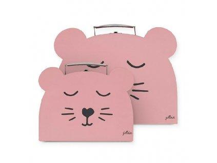 JOLLEIN sada kufříků růžové