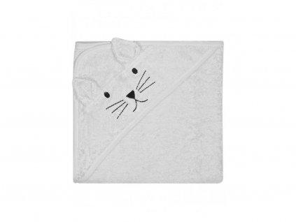 KINDSGUT dětská osuška šedá kočička