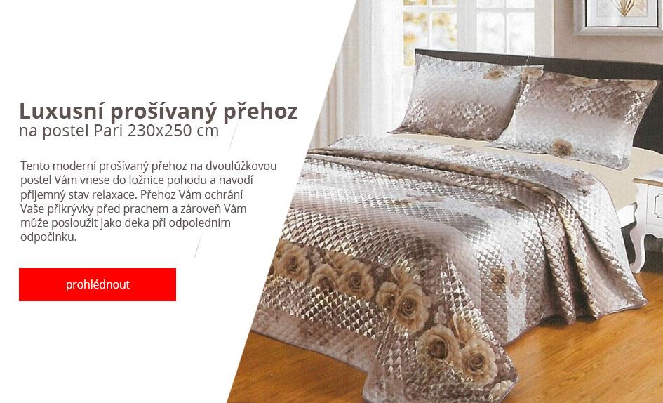 Luxusní prošívaný přehoz na postel Pari