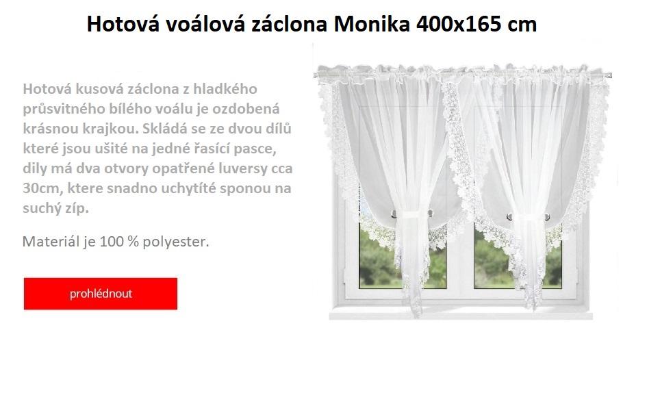 Voálová hotová záclona Monika 400 x 165 cm