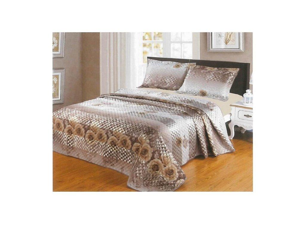 Luxusní prošívaný žakárový přehoz na postel Pari 230x250 cm