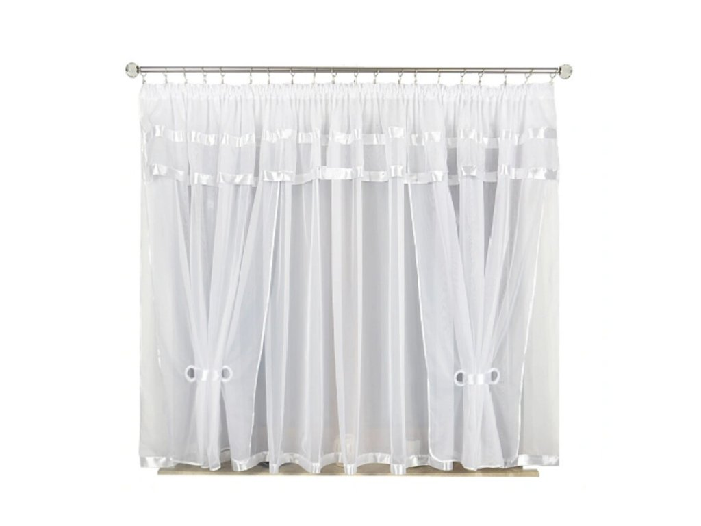 37 Voálová kusová záclona s závěsem Alena bílá 400x150 cm