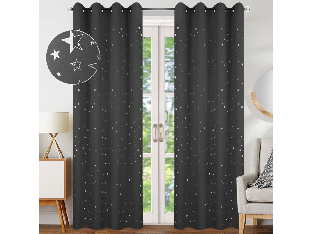 Hvezdy tmavě šedé