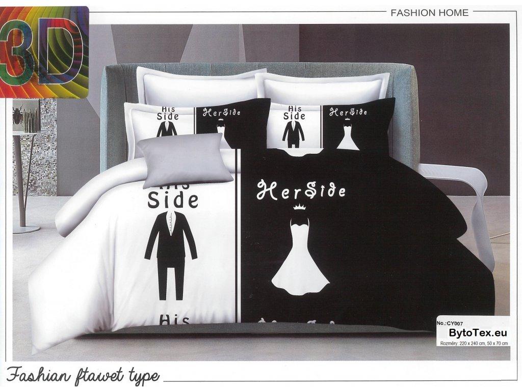 Luxusní přehoz na postel Her Side, 220x240 cm
