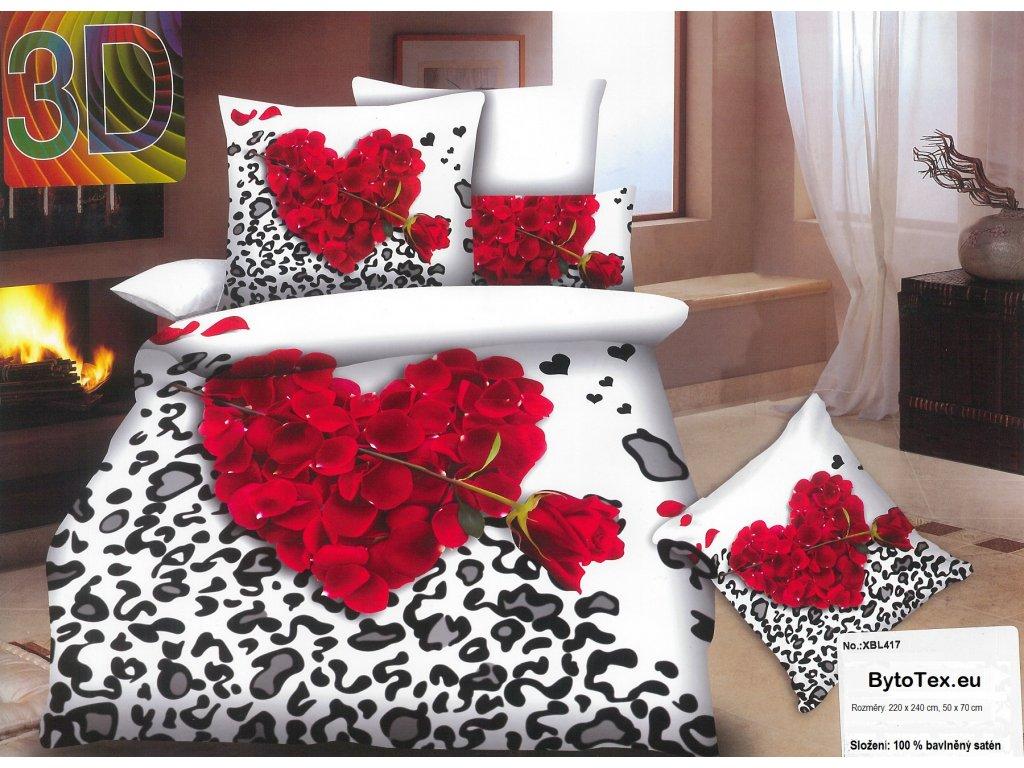 Luxusní prošívaný přehoz na postel Rose of Wind, 220x240 cm