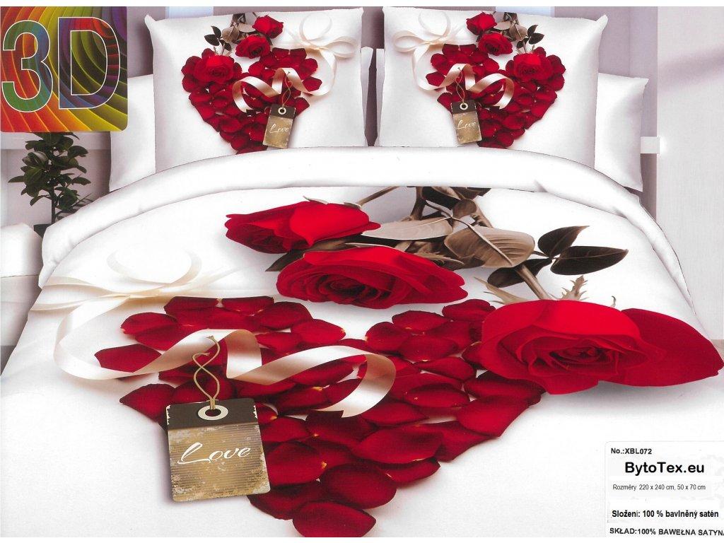 Luxusní prošívaný přehoz na postel Love, 220x240 cm
