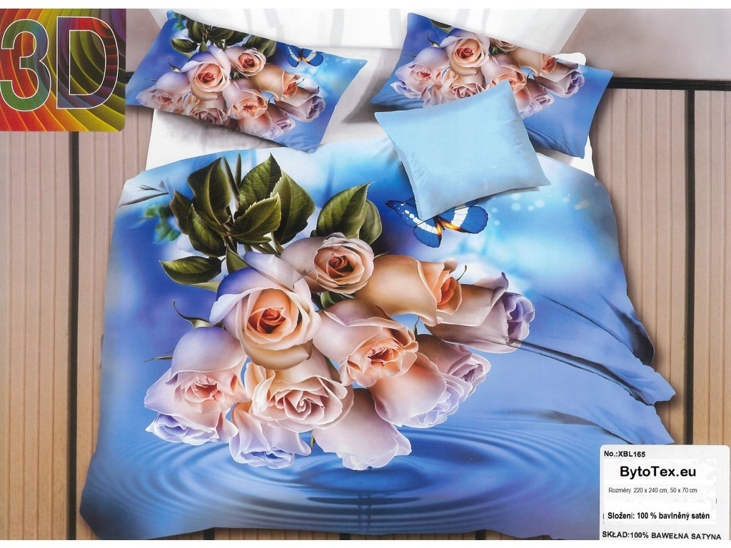 Luxusní prošívaný přehoz na postel White Rose, 220x240 cm