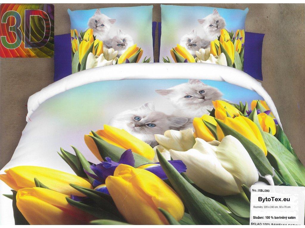 Luxusní prošívaný přehoz na postel Tulips, 220x240 cm