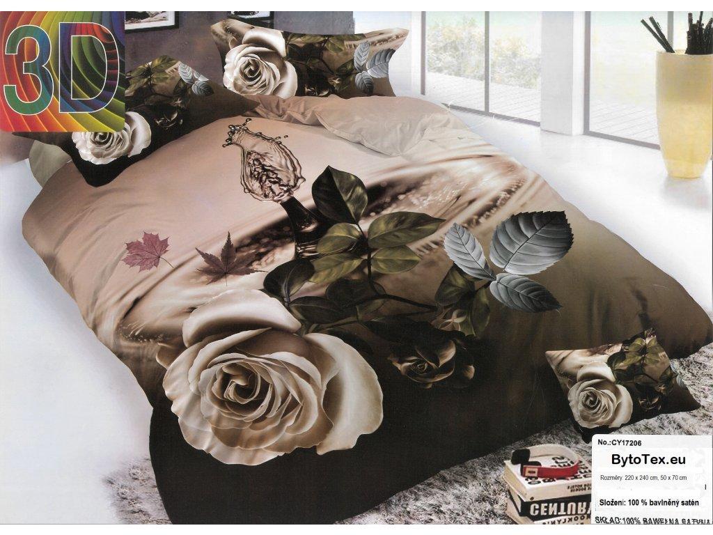 Luxusní prošívaný přehoz na postel Purple Flower, 220x240 cm