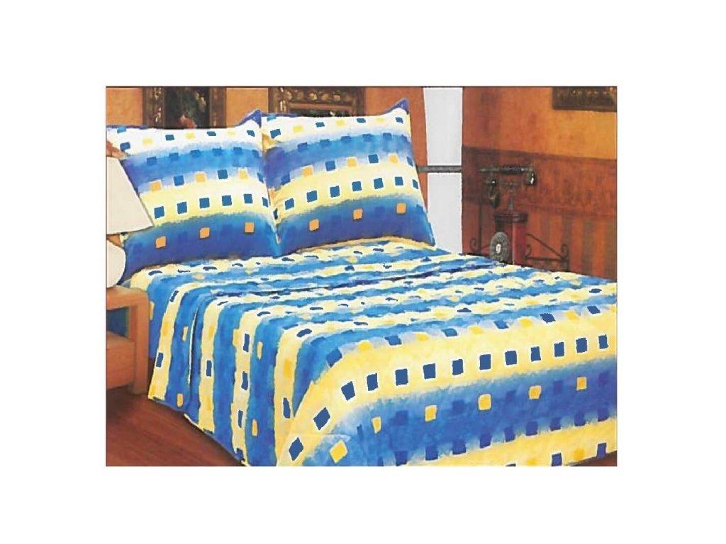 Prošívaný přehoz na postel Kostky, 200x230 cm