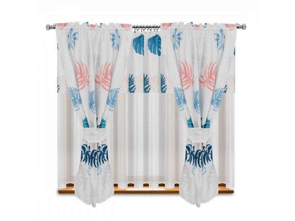 210 Luxusní hotová kusová záclona Adina 400x160 cm