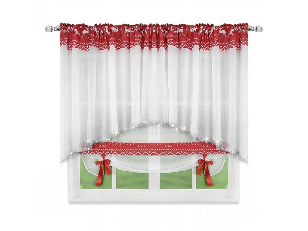 Záclona s vánočním motivem Christmas 400x120 cm