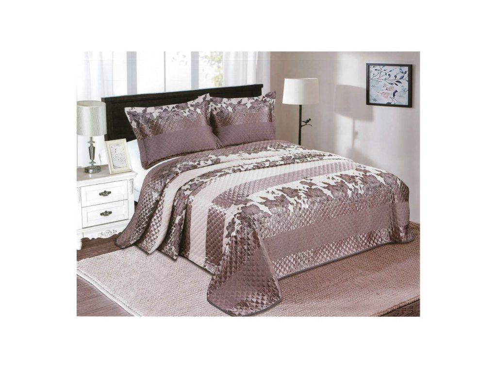 Luxusní prošívaný žakárový přehoz na postel Dana 230x250 cm
