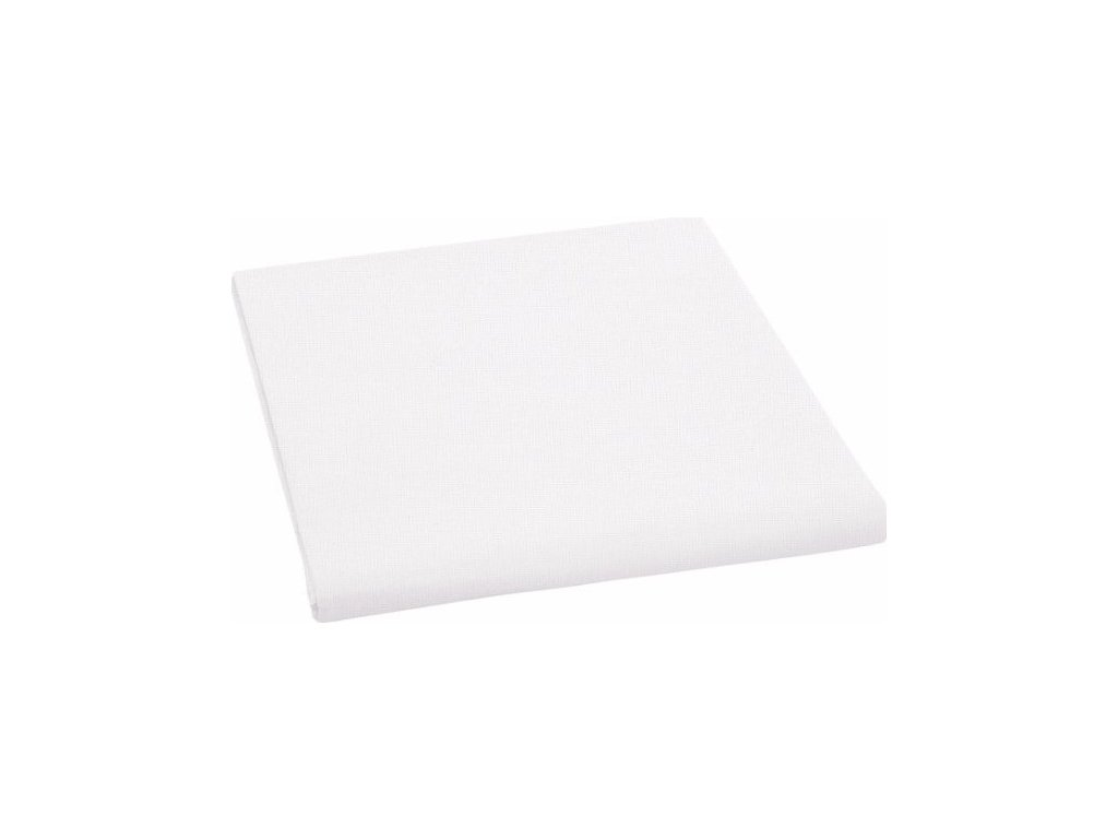 Bavlněné prostěradlo - bílá, 150 x 225 cm, 100%  bavlna
