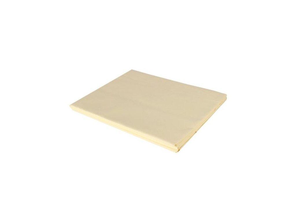 Bavlněné prostěradlo - vanilka, 150 x 225 cm, 100% bavlna