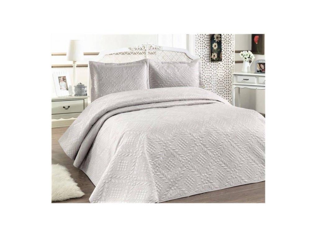 Luxusní přehoz na postel Evelyn bílá 220x240 cm