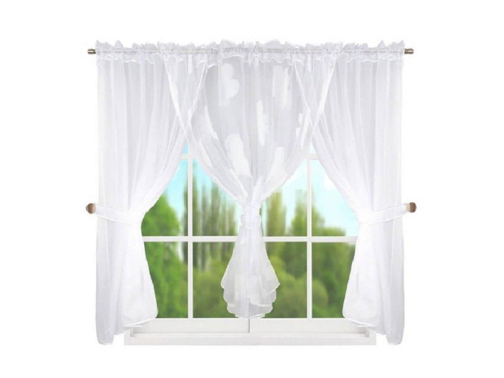 95 Hotová kusová záclona L 95 4 bílý 400x150 cm