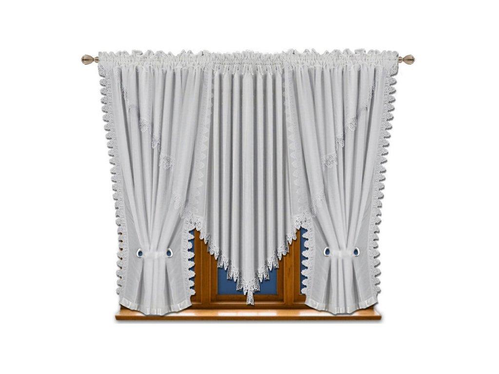 Voálová kusová záclona Monika 400x150 cm