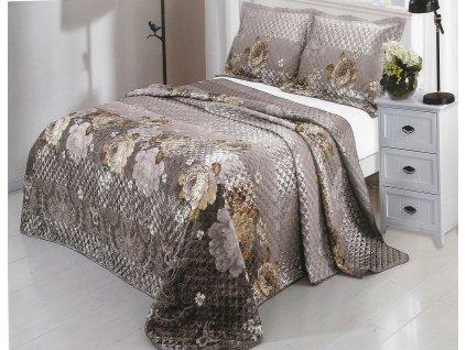 Luxusní prošívaný přehoz na postel Lida 230x250 cm