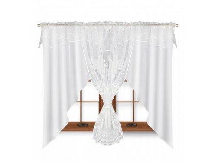 123 Hotová kusová záclona Claudia bílá 400x150 cm