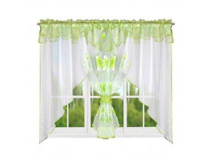123 Hotová kusová záclona Claudia zelená 400x150 cm