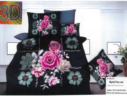 Luxusní prošívaný přehoz na postel Flower Pattern, 220x240 cm