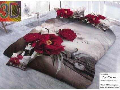 Luxusní prošívaný přehoz na postel Swans, 220x240 cm